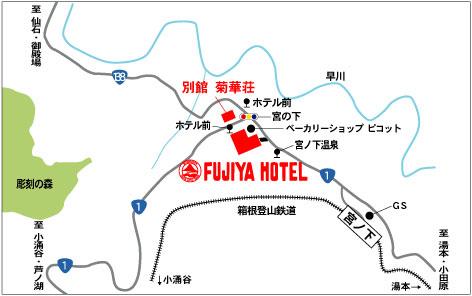 箱根温泉地图
