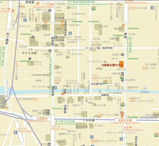 大阪心斋桥地图